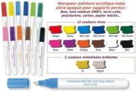 Marqueurs peinture pour Bois, Cartons, Terre cuite... - Marqueurs - 10doigts.fr