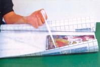 Rouleau de pellicule adhésive repositionnable transparente - Films et feuilles plastique - 10doigts.fr