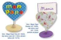 Clip Mémo Coeur - Mémos et magnets - 10doigts.fr