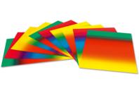 Cartes Arc-en-ciel en dégradé de couleur - Set de 10 - Papiers à effets - 10doigts.fr