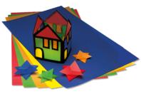 Papier vitrail - 10 couleurs assorties - Papiers Vitrail - 10doigts.fr