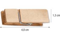 Pinces à linge larges - Pinces à linge classiques - 10doigts.fr