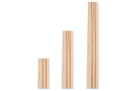 Tiges rondes en bois ø 4 mm - Bâtonnets, tiges, languettes - 10doigts.fr