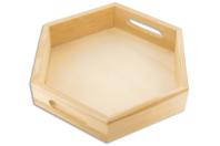 Mini plateau hexagonal - Plateaux en bois - 10doigts.fr