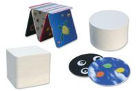 Dessous de verre en carton blanc épais - Set de 100 - Paniers, plateaux en carton - 10doigts.fr
