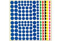 Maxi set de gommettes rondes - Gommettes géométriques - 10doigts.fr