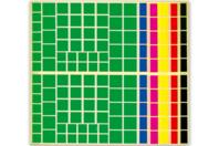 Maxi set de gommettes carrées - Gommettes géométriques - 10doigts.fr