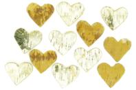Cœurs en bouleau - Set de 10 - Bois - 10doigts.fr