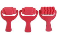 Rouleaux éponge fantaisie - 3 formes assorties - Rouleaux - 10doigts.fr