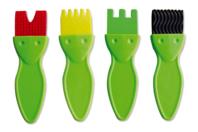 Pinceaux brosses textures - Set de 4 - Brosses - 10doigts.fr