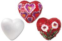 Cœurs en polystyrène 10 cm - Formes à décorer - 10doigts.fr