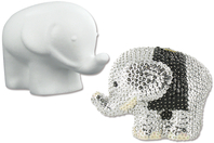 Eléphant en polystyrène 10 cm - Animaux Polystyrène - 10doigts.fr