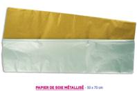 Papier de soie métallisé Or et Argent - Papier de soie - 10doigts.fr