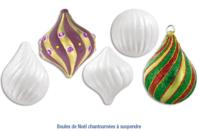 Boules de Noël chantournées - Set de 10 pièces - Décoration du sapin - 10doigts.fr