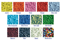Perles de rocaille couleurs opaques au choix - 9000 perles - Perles de rocaille - 10doigts.fr