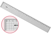 Règle quadrillée et graduée - 30 cm - Cutters, massicot - 10doigts.fr