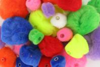Pompons perles, couleurs vives - 48 pièces - Pompons - 10doigts.fr
