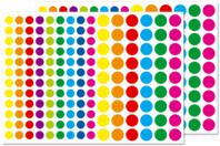 Petites gommettes rondes couleurs vives - Gommettes géométriques - 10doigts.fr