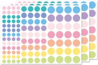 Gommettes rondes couleurs pastels - Gommettes géométriques - 10doigts.fr