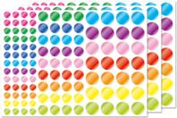 Gommettes rondes métallisées - 3 planches - Gommettes Rondes - 10doigts.fr