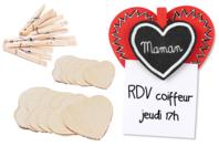 Kit Pense-Bête Coeur à Coeur - Kits Supports et décorations - 10doigts.fr