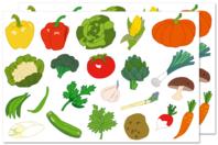 Gommettes légumes - Gommettes fantaisie - 10doigts.fr