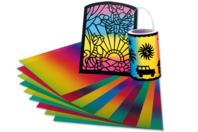 Papier translucide arc-en-ciel - 10 couleurs - Papiers de Fêtes - 10doigts.fr