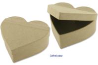 Coffret coeur en carton papier mâché 12 x 10 cm - Boîtes - 10doigts.fr