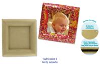 Cadre carré en carton papier mâché, avec bords arrondis - Cadres - 10doigts.fr