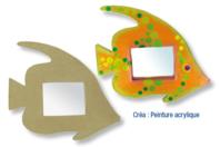 Miroir poisson tropical en carton papier mâché - Miroirs - 10doigts.fr