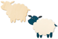Mouton en bois naturel - Motifs brut - 10doigts.fr