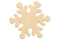 Flocon en bois naturel 10 cm - Motifs brut - 10doigts.fr