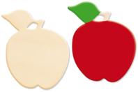 Pomme en bois naturel - Motifs brut - 10doigts.fr