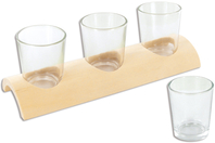 Centre de table - 3 photophores - Supports en Verre - 10doigts.fr