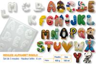 """Moules """"ALPHABET Rigolo"""" - 3 plaques assorties - Moules - 10doigts.fr"""