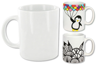 Mug en porcelaine blanche - Supports en Céramique et Porcelaine - 10doigts.fr