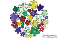 Strass fleurs - 200 pièces - Strass, cabochons - 10doigts.fr