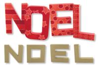 Set de 4 lettres NOEL en carton papier mâché  - Noël - 10doigts.fr