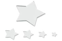 Miroirs adhésifs étoiles - Set de 8 - Miroirs - 10doigts.fr