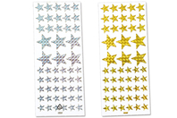 Étoiles holographiques - Set de 102 stickers - Gommettes Noël - 10doigts.fr