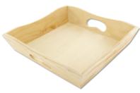 Mini plateau ou Porte-serviettes en bois - Plateaux en bois - 10doigts.fr