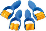 Set de 4 rouleaux à empreintes assorties - Outils de Modelage - 10doigts.fr