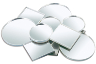 Miroirs en verre - ronds et carrés - Miroirs - 10doigts.fr