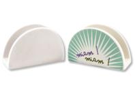 Range-serviettes ou courrier en terre cuite blanche - Céramique et Porcelaine - 10doigts.fr