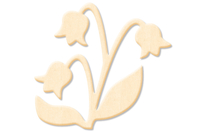 Fleur N°1 en bois naturel - Motifs brut - 10doigts.fr