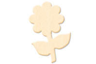 Fleur N°2 en bois naturel - Motifs brut - 10doigts.fr