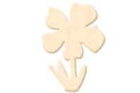 Fleur en bois naturel - Motifs brut - 10doigts.fr