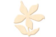 Fleur N°4 en bois naturel - Motifs brut - 10doigts.fr