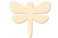 Libellule en bois naturel - Motifs brut - 10doigts.fr