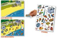Stickers scène de vie La plage - Gommettes Histoires et décors - 10doigts.fr